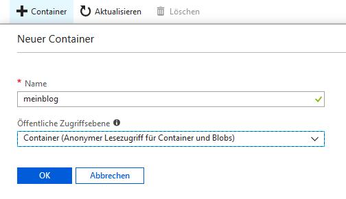 Microsoft Azure Storage Container
