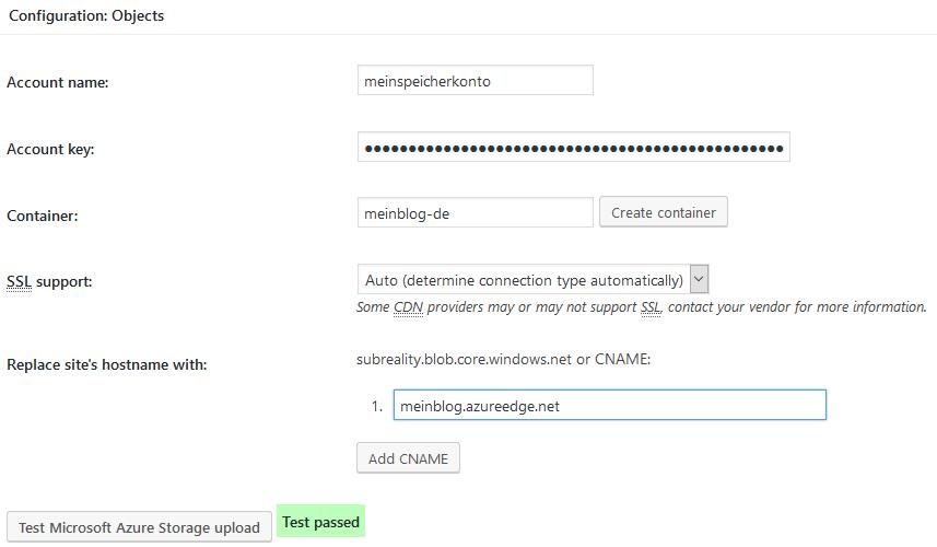 CDN in W3 Total Cache in WordPress konfigurieren
